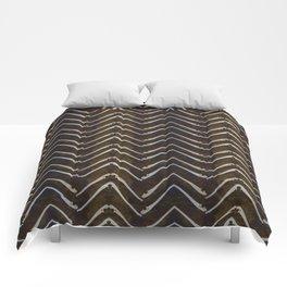 Bone Chevron Comforters
