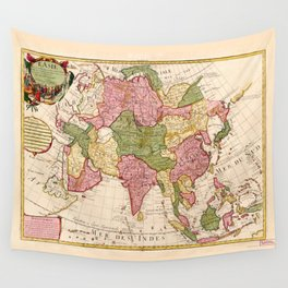 Map of Asia (1700) Wall Tapestry