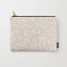 Tiny Spots - White and Pastel Brown Carry-All Pouch