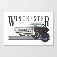 Supernatural : Winchester Antiques Canvas Print