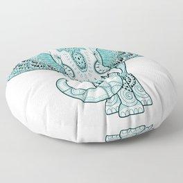 Turquoise Elephant Floor Pillow