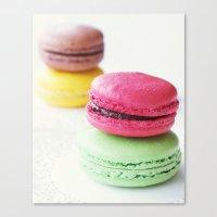 macaron Canvas Prints featuring Macaron by Natalia Valle