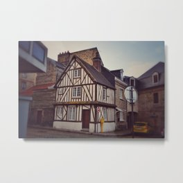 Post and Beam House in Dieppe Metal Print
