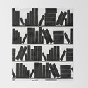 Library Book Shelves, black and white by amygale