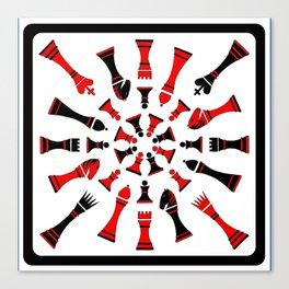 Red/Black Chessmen Canvas Print