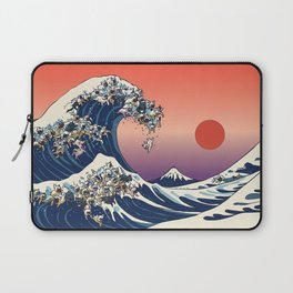 The Great Wave Of  French Bulldog Laptop Sleeve