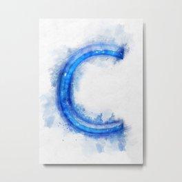 C Letter Metal Print