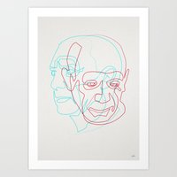 picasso Art Prints featuring Picasso by quibe