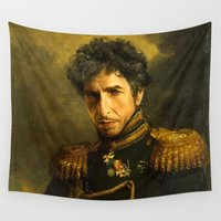 dylan Wall Tapestries featuring Bob Dylan - replaceface by replaceface