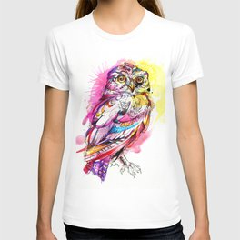 Neon Northern Pygmy Owl T-shirt
