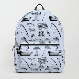 Gone Fishing // Light Blue Backpack