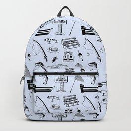 Gone Fishing // Light Blue Backpack