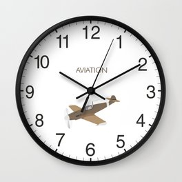 German WWII BF109 Military Airplane Fighter Wall Clock