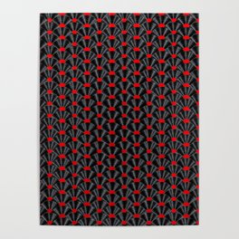 Covered in Vinyl / Vinyl records arranged in scale pattern Poster