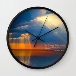 Light Quote Aristotle Onassis Wall Clock