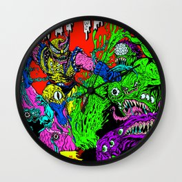 MONSTER FIGHT Wall Clock