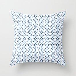 Catalina Tiles Decoration Home Art Spanish Tiles style Blue Ceramic Pattern Talavera Throw Pillow