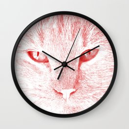 sandy, close up, drawing red Wall Clock
