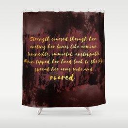Manon Roared Shower Curtain