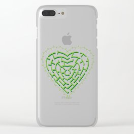 Lost in the Love Maze Clear iPhone Case