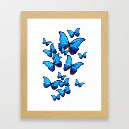 Blue butterflies Framed Art Print