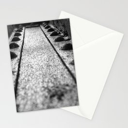 Rivets in Steel Girder Black and White Industrial Art Stationery Cards