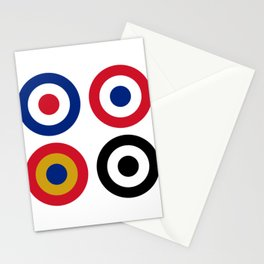 Colourful Mod Targets Stationery Cards