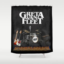 Greta Van Fleet design Shower Curtain