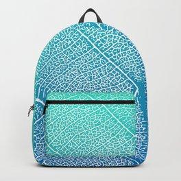 Simple leaf pattern in blue gradient Backpack