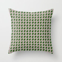 """""""PINK PAINTED HANDS (ON BLACK)"""" BY ROBERT DALLAS Throw Pillow"""