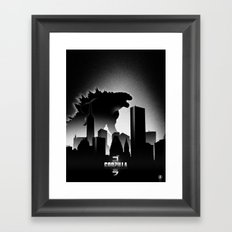 King of Monsters Framed Art Print