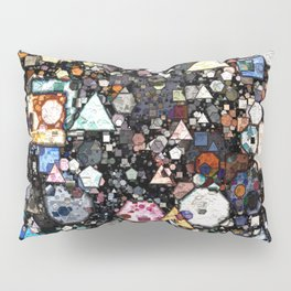 Colorful Layers of Geometric Shapes Pillow Sham
