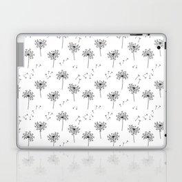 Dandelions in Black Laptop & iPad Skin