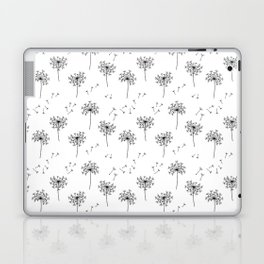 Dandelions in Black Laptop & iPad Skin