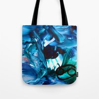 cancer Tote Bags featuring Cancer by ART de Luna