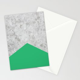Concrete Arrow Green #175 Stationery Cards