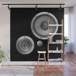 Subwoofer Speaker on black Wall Mural