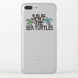 Save the Sea Turtles Clear iPhone Case