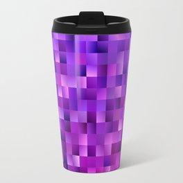Geometrical abstract square background Travel Mug