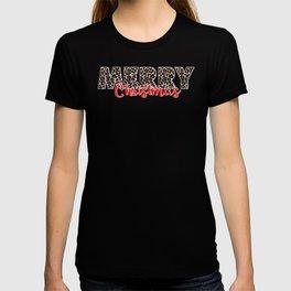 Christmas Break Merry Leopard Print Christmas T-shirt