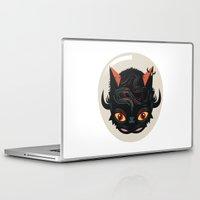 devil Laptop & iPad Skins featuring Devil cat by Exit Man