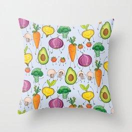 Don't Forgetcha Veggies! Throw Pillow
