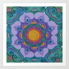 Peacock Dakini Art Print