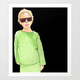 Ray-Ban Kid Art Print