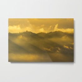 Cloudy mountain sunrise Metal Print