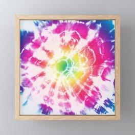 Tie-Dye Sunburst Rainbow Framed Mini Art Print