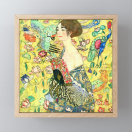 "Gustav Klimt ""Lady with fan"" Framed Mini Art Print"