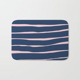 Stripes - Navy Bath Mat