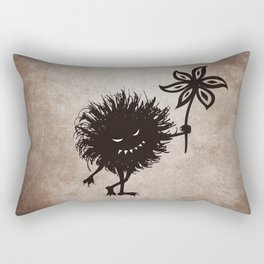 Evil Bug Gives Flower Rectangular Pillow
