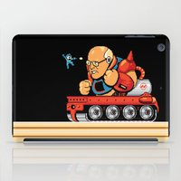 megaman iPad Cases featuring Megaman vs Dick Cheney by Jude Buffum